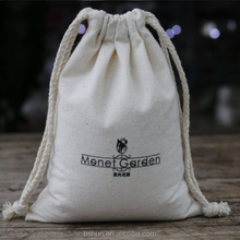 Eco-friendly Cotton Linen Drawstring Bags for Food Pack