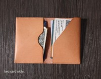 custom simple business leather card holder suitable for passport , ID card, and credit card