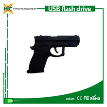 Gun shape usb flash drive 8GB 16GB 32GB pen drive 500gb usb plastic case