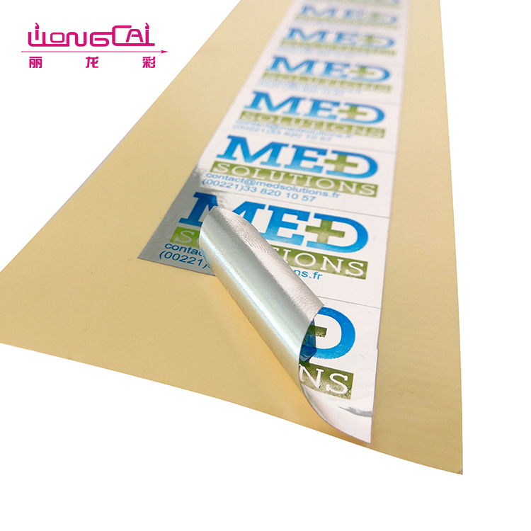 Small rectangle sheet cheap printing product tagless aluminum label stickers