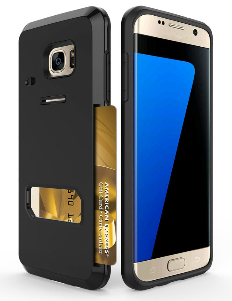 Cell phone cases with card holder for samsung galaxy s7 edge