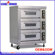Guangzhou Factory Commercial Kitchen 3 Deck Gas Pizza oven