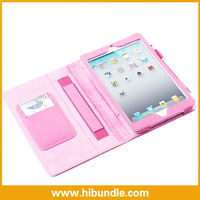 Stand Leather Cover Case for Ipad Mini With Pen Slot