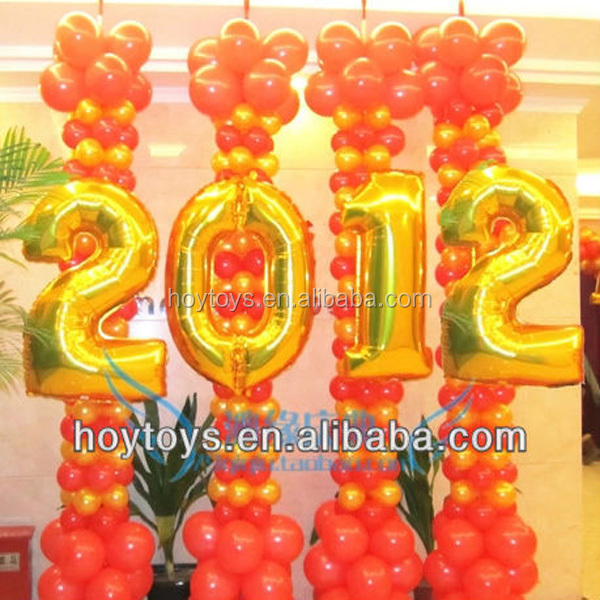 2017Cheap Number Shaped 36 Inch Helium Balloons For Party
