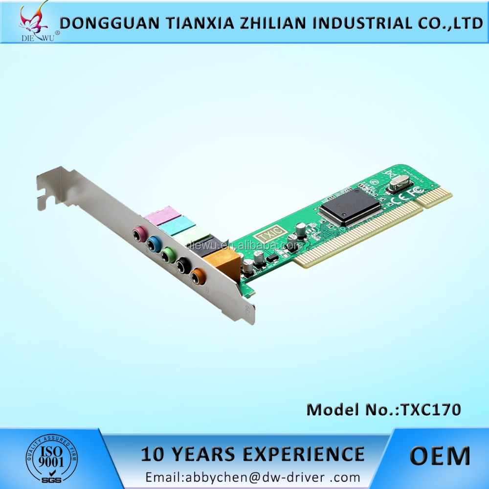 PCI media audio Card 6 channel CMI8738 Chipset PCI sound card