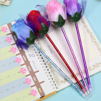 U1344 sparry flash flower blue ball pen Han edition simulation roses character writing pen