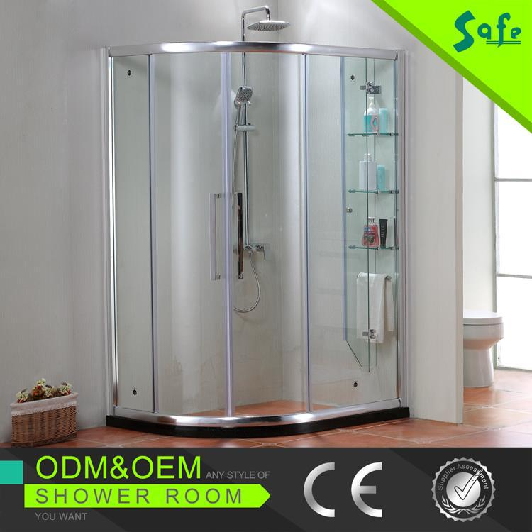 Professional shower room sliding roller frame shower screen