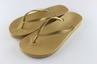 Factory made customized PCU golden women slipper