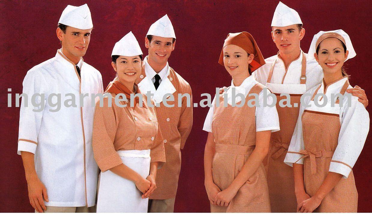 Cocina uniforme uniformes del hotel identificaci n del for Uniformes de cocina precios