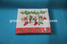 Promotional colored wood pulp paper napkin