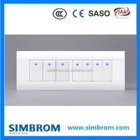 Seven gangs electric pust button switch wall switch and socket