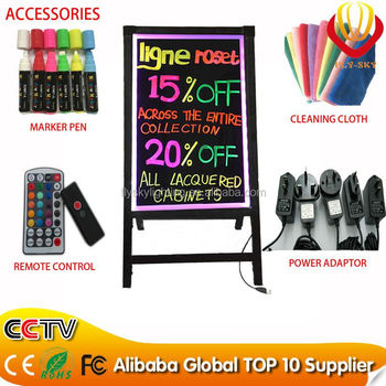 wholesale lower price CE & ROHS & FCC approved Electronic Components shops advertising 60*80cm stand led writing board