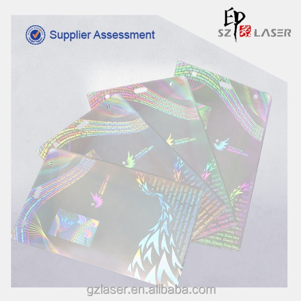 A4 125 micron hologram laminating pouches film for Sports Games