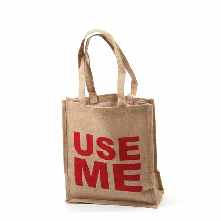 New fashion burlap tote bags with rope handles reusable
