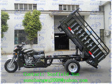 Guangzhou factory direct sell big cargo box 5 wheel motorcycle