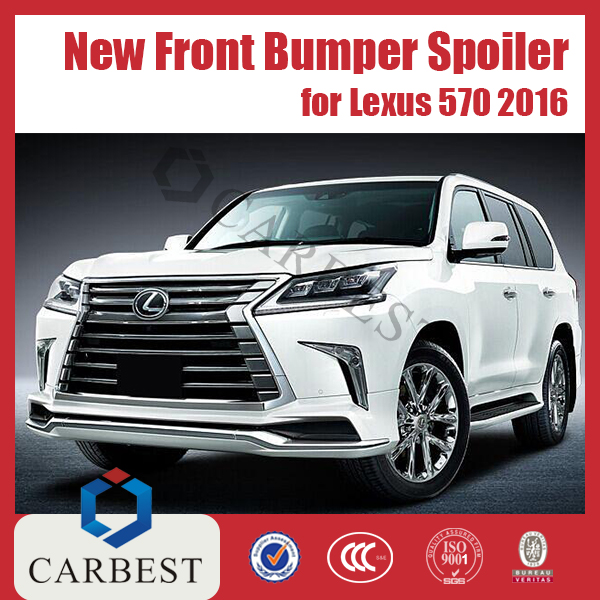 High Quality New PP Front Bumper Spoiler for Lexus Lx 570 2016