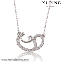 41848 Xuping Gemstone Pendant Necklace Collar