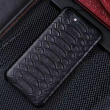 real python skin phone leather case for iphone 6 7,genuine python skin case for samsung s6 s7 edge