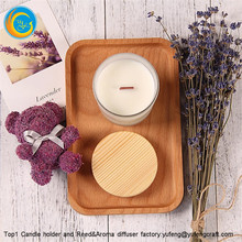 Top1 trade assurance yufeng frosted scented candle holders set with lids and box yufengcraft www.yufengcraft.cn