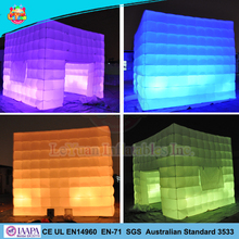 Hot sale LED inflatable photo booth, inflatable cube tent