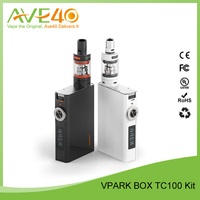 Vpark wax pen vaporizer mod 100w v-box box mod 18650 battery e cigarette box mod ,100w vapor