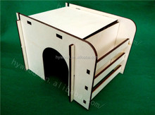 new design movable decorative laser engraving cutting carved wood assembled wooden dog house for sale with factory cheap price