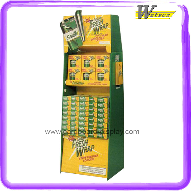 Hot sale overseas market good quality cardboard display stand for cigarette