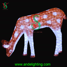 Outdoor factory wholesale 3D reindeer motif christmas led decoration light