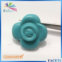 FACETS GEMS Synthetic Jewelry Stone Rose Shape Persian Turquoise