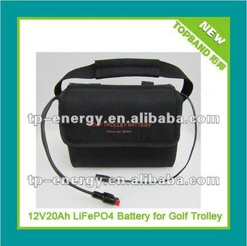 TOPBAND!!! battery for golf trolley 12v20ah+5A charger+battery management system