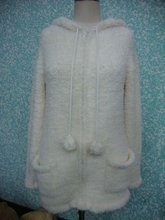 ladies knitted sweater with hat