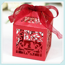 Love Birdcage Laser Cutting Candy Box Chocolate Box Wedding Gifts For Guests Wedding Decoration Party Supplies Decorations