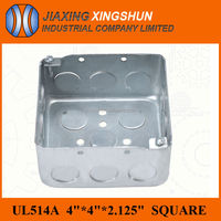 Galvanized 4x4 Square Sheet Steel Metal Cover Box IP65