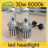 2014 new product H4-1 xenon hid kit h4 50w cree led headlights head lamps bulbs 1800lm12V 35W