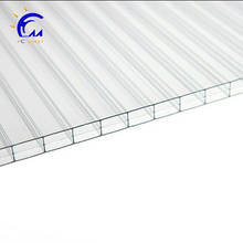 4mm 100% Virgin Grade A 50 Micron UV Coating Polycarbonate Twin Wall Hollow Sheets Cheap Price Roofing Panels