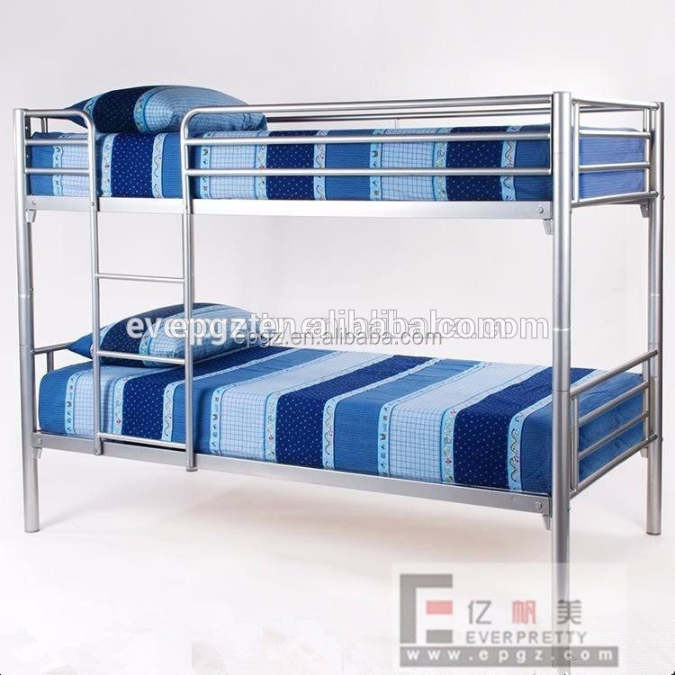 Modern New Iron Steel Metal Hostel Hotel Latest Double Cot Bed Designs