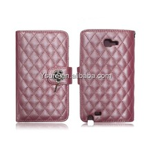 Flip Quilted Case for LG Optimus L9 ii D605 with Chain Wristlet