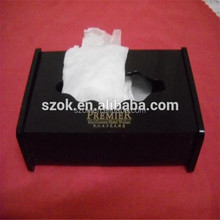 Personalized custom perspex napkin box black acrylic tissue box