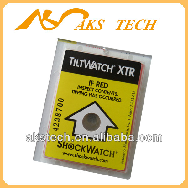 TiltWatch XTR leaning indicator shipping packing labels