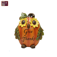 Resin Customized Handmade Owl Pumpkin Give Thanks Decoration Festival Gift