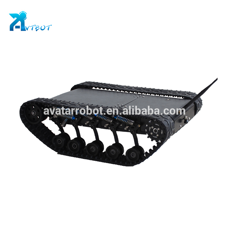 Rubber track chassis for sale eod robot tank tracks rover 5 mobile car