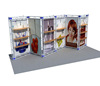 10x20 feet china exhibition stands made of aluminum truss and fabric for exhibition booth display