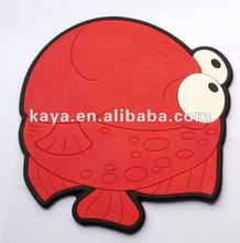 3D soft pvc plastic animal gifts/cup coaster