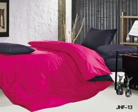 Hot Pink and Black Reversible 6 pc Bed in a Bag set
