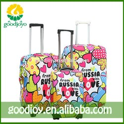 Promotional customized waterproof luggage fashion covers , carry-on trolley luggage