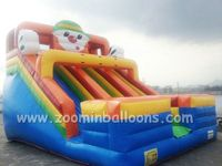 Funny inflatable slide,manufacture double lane slide for fun Z3066