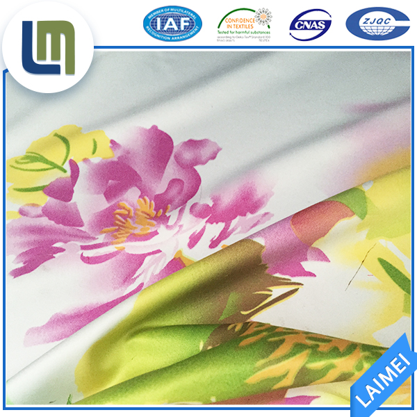 Best Comfort 100% polyester satin silk charmeuse bedding fabric hometextile