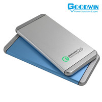 2016 Newest Quick Charge 2.0 Mobile portable Power Bank 10000mah