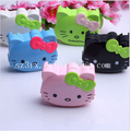 Hot sale portable kitty contact lens case travel kit mirror tweezer holder container box