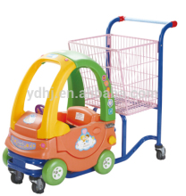 Shopping cart with child seat